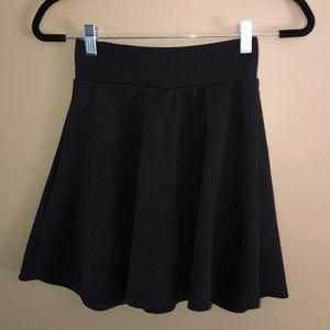 Woman's Black Mini Skater Skirt